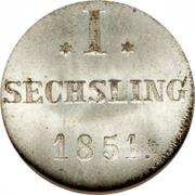 1 Sechsling – reverse