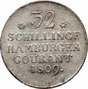 32 Schillinge Courant – reverse