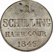 1 Schilling Courant – reverse