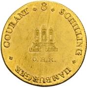 8 Schilling (Gold pattern strike) – obverse