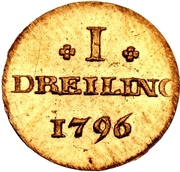 1 Dreiling (Gold pattern strike) – reverse