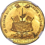 ½ Portugalöser (Bicentennial of the Augsburg Confession) – reverse