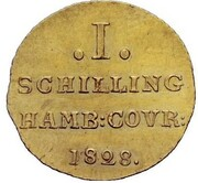 1 Schilling (Gold Pattern) – reverse