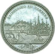 Souvenir medal - Hamburg – reverse