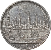 Medal - 1000 year celebration of the city of Hamburg – reverse