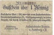 1 Pfennig (Hafenbetriebs-Verein) – obverse