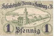 1 Pfennig (Hafenbetriebs-Verein) – reverse
