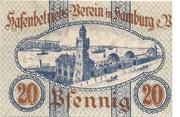 20 Pfennig  (Hafenbetriebs-Verein) – reverse