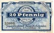 20 Pfennig (Zigarettenfabrik Sossidi) – obverse