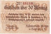 30 Pfennig (Hafenbetriebs-Verein) – obverse