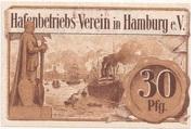 30 Pfennig (Hafenbetriebs-Verein) – reverse