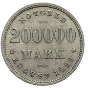 200 000 Mark - Hamburg – reverse