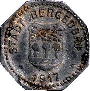 50 Pfennig - Bergedorf – obverse