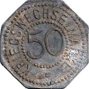 50 Pfennig - Bergedorf – reverse