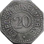 20 Pfennig - Bergedorf – reverse
