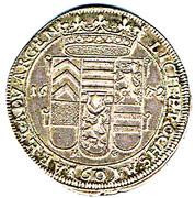 60 Kreuzer - Friedrich Casimir von Hanau-Lichtenberg – reverse