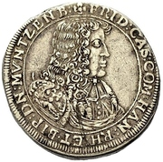1 Gulden - Friedrich Casimir – obverse