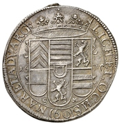 1 Gulden - Friedrich Casimir – reverse