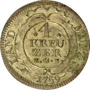 4 Kreuzer - Ludwig IX – reverse