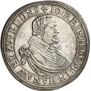 1 Thaler - Johann Reinhard – obverse