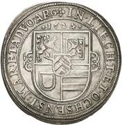 1 Thaler - Johann Reinhard – reverse