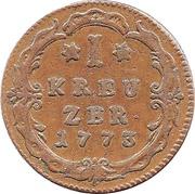 1 Kreuzer - Wilhelm IX – reverse