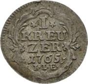 1 Kreuzer - Wilhelm IX. – reverse
