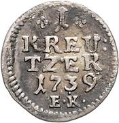 1 Kreuzer - Wilhelm VIII. – reverse