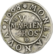 6 Mariengroschen – reverse