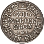 12 Mariengroschen – reverse