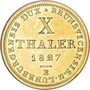 10 Thaler - George IV – reverse