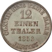 1/12 Thaler - Georg V – reverse