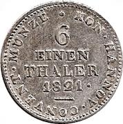 ⅙ Thaler - Georg IV – reverse