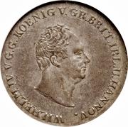 ⅔ Thaler - William IV – obverse