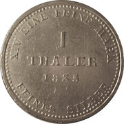 1 Thaler - William IV -  reverse