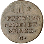 2 Pfennig - George III – reverse