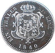 1 Thaler - Ernst August V. – reverse