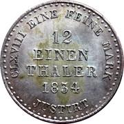1/12 Thaler - William IV – reverse