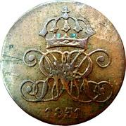 1 Pfennig - William IV – obverse