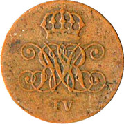 2 Pfennig - William IV – obverse