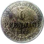 6 Pfennige - Georg V – reverse