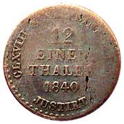 1/12 Thaler - Ernst August – reverse