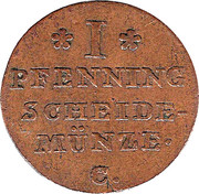 1 Pfenning - George III – reverse