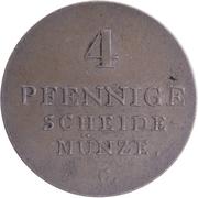 4 Pfennig - George IV – reverse