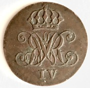 1 Pfennig - William IV – obverse