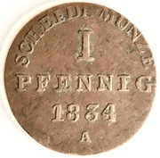 1 Pfennig - William IV – reverse
