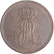 2 Pfennige - Ernst August – obverse