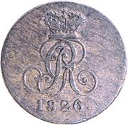 1 Pfennig - George IV – obverse
