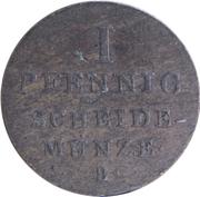 1 Pfennig - George IV – reverse