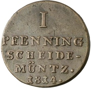 1 Pfenning - George III. – reverse